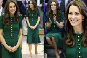 Kate Middleton w zielonej sukience na meczu siatkówki (ZDJĘCIA)