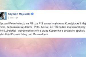 Szymon Majewski nabija się z Ryszarda Petru