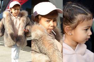 Córka Kim Kardashian w futrze (ZDJĘCIA)