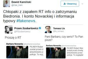 Lis i Szubartowicz złapani na fake news