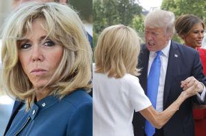 """Donald Trump komentuje 64-letnią Brigitte Macron: """"JEST W NAPRAWDĘ DOBREJ FORMIE"""""""