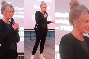 Grażyna Torbicka na sportowo w warszawskiej knajpie