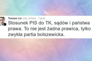 """Lis o PiS: """"Zwykła partia bolszewicka"""""""