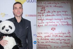 Marcin Dorociński pomaga dziewczynce w adopcji psa
