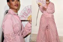 """Rihanna promuje """"swoją"""" kolekcję w Paryżu"""