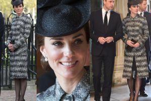 Elegancka Kate Middleton z Williamem i Harrym oddają hołd ofiarom zamachu w Londynie (ZDJĘCIA)
