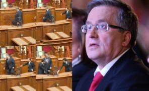 Skandal w japońskim parlamencie? Komorowski STANĄŁ NA KRZEŚLE!