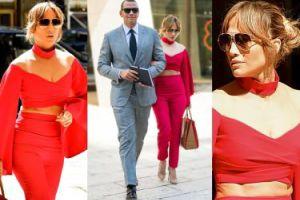 Brzuch 47-letniej Jennifer Lopez na spacerze z nowym chłopakiem (ZDJĘCIA)