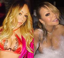 46-letnia Mariah Carey pokazuje biust...