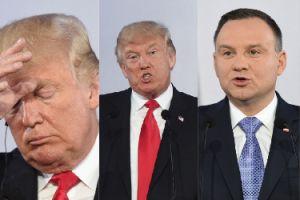 Miny Donalda Trumpa na konferencji z Andrzejem Dudą (ZDJĘCIA)