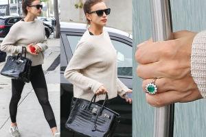 Ciężarna Irina Shayk z pierścionkiem zaręczynowym (ZDJĘCIA)