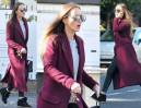 Marina Szczęsna w płaszczu Burberry za 7 tysięcy złotych (ZDJĘCIA)