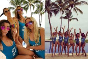 Kardashianki z koleżankami w jednakowych strojach (GALERIA)