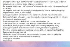"""Boruc: """"Kończę piękną przygodę z Reprezentacją... Polski"""""""