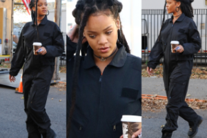 """Rihanna w czarnym kombinezonie na planie """"Ocean's Eight"""" (ZDJĘCIA)"""