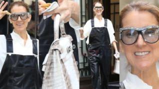 Celine Dion w gumowych ogrodniczkach i z torebką za 360 TYSIĘCY ZŁOTYCH (ZDJĘCIA)