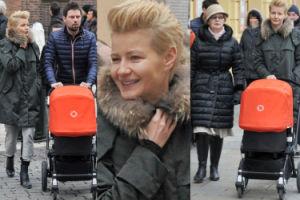 Kożuchowska z mężem, matką i synkiem w Krakowie (ZDJĘCIA)