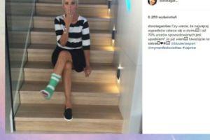 Dorota Gardias złamała nogę! (FOTO)