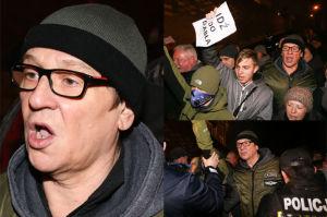 Maciej Maleńczuk blokuje wjazd Kaczyńskiego na Wawel (ZDJĘCIA)