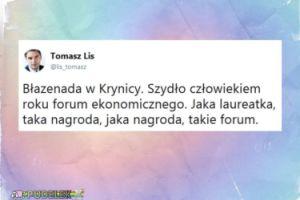 """Szydło Człowiekiem Roku Forum Ekonomicznego w Krynicy. Lis: """"Błazenada"""""""