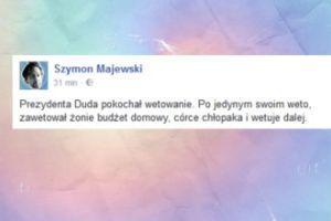 Szymon Majewski śmieje się z prezydenta