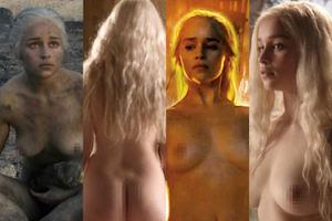 """Emilia Clarke znowu się rozebrała w """"Grze o tron""""! (ZDJĘCIA)"""