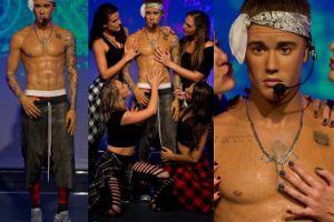Fanki obmacują figurę woskową Justina Biebera... (ZDJĘCIA)