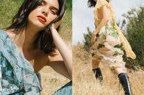 Znudzona Kendall Jenner pozuje na łące