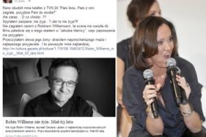 """Anna Ibisz o graniu z Robinem Williamsem: """"TA SCENA NIE WESZŁA DO FILMU"""""""