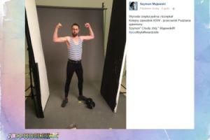Szymon Majewski pręży mięśnie