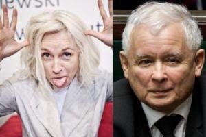 """Gretkowska mocno o Kaczyńskim: """"KRYPTOGEJ Z DEPRESJĄ, któremu wydaje się, że jest Piłsudskim"""""""