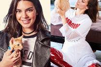 Kendall Jenner i Bella Hadid pozują z kotkami