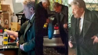 Daniel Olbrychski pije na parkingu po pogrzebie Wajdy (ZDJĘCIA)