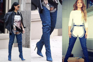 """Rihanna przeprosiła kobiety za buto-spodnie, które """"zaprojektowała""""! (FOTO)"""