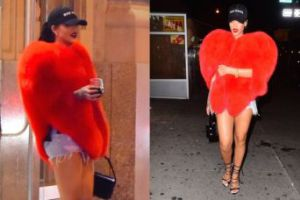 Rihanna w futrzanym sercu