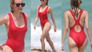 40-letnia Diane Kruger na plaży w Miami! Seksowna? (ZDJĘCIA)