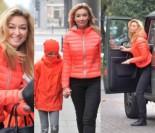 Wojciechowska z córką wychodzą z
