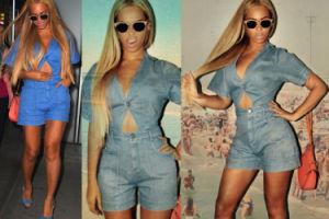 Beyonce w dżinsie w Nowym Jorku (ZDJĘCIA)
