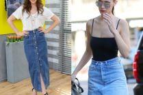 Mini, midi czy maxi? Gwiazdy w dżinsowych spódnicach