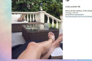 Hanna Lis pokazuje nogi