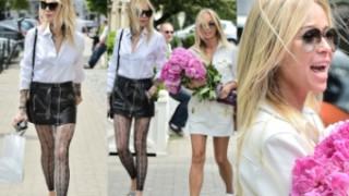 Sablewska w koronkowych legginsach i ulubionych butach za 3 TYSIĄCE. Zrobiła wrażenie na Przetakiewicz? (ZDJĘCIA)