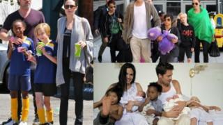 Szczęśliwa rodzina Angeliny i Brada (ZDJĘCIA)
