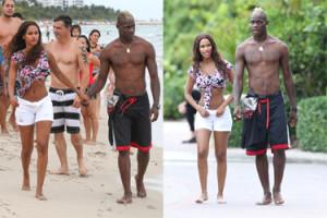 Balotelli z narzeczoną na plaży! (ZDJĘCIA)