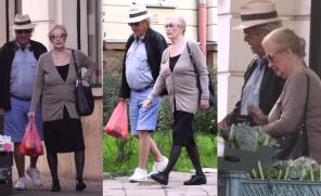 Beata Tyszkiewicz robi zakupy na bazarku. Przeszła na zdrowy tryb życia?