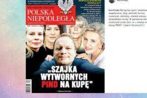 Korwin-Piotrowska komentuje okładkę z protestującymi celebrytami