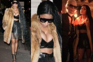 Zdesperowana Nicki Minaj w futrze i z włosami… do kolan (ZDJĘCIA)