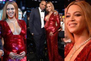 Beyonce chwali się ciążowym brzuszkiem w czerwonych cekinach (ZDJĘCIA)