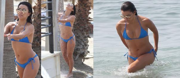 40-letnia Longoria bierze prysznic w bikini! (ZDJĘCIA)