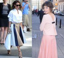Moda na retro: gwiazdy znów noszą plisowane spódnice