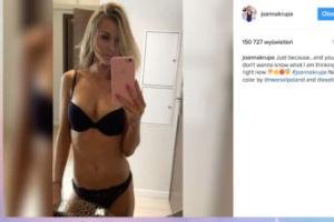 Dżoana w bikini myli fotkę z filmem